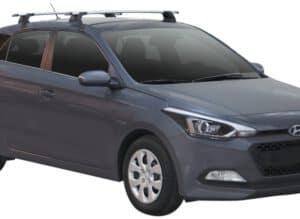 Whispbar Dakdragers (Black) Hyundai i20 5dr Hatch met Vaste bevestigingspunten bouwjaar 2015 - e.v. Complete set dakdragers