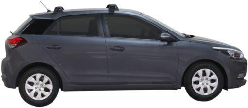 Whispbar Dakdragers (Black) Hyundai i20 5dr Hatch met Vaste bevestigingspunten bouwjaar 2015 - e.v.|Complete set dakdragers
