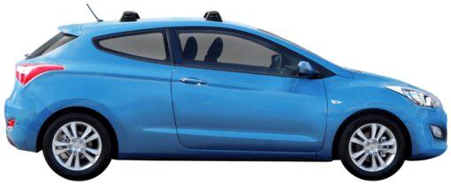 Whispbar Dakdragers (Black) Hyundai i30 3dr Hatch met Vaste bevestigingspunten bouwjaar 2013 - 2017 Complete set dakdragers