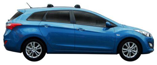Whispbar Dakdragers (Black) Hyundai i30 5dr Estate met Vaste bevestigingspunten bouwjaar 2013 - 2017 Complete set dakdragers