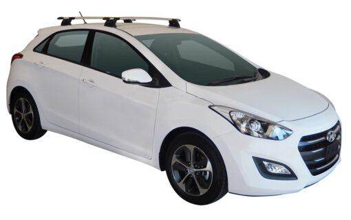 Whispbar Dakdragers (Black) Hyundai i30 5dr Hatch met Vaste bevestigingspunten bouwjaar 2015 - 2017 Complete set dakdragers