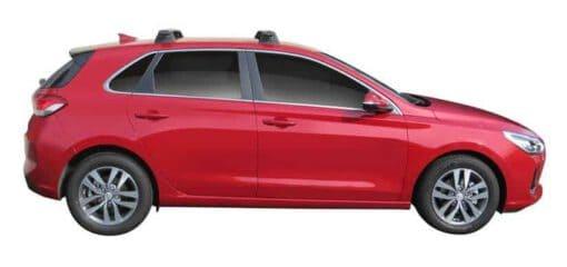 Whispbar Dakdragers (Black) Hyundai i30 5dr Hatch met Vaste bevestigingspunten bouwjaar 2017 - e.v.|Complete set dakdragers