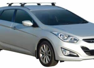 Whispbar Dakdragers (Black) Hyundai i40 Tourer 5dr Estate met Vaste bevestigingspunten bouwjaar 2011 - e.v. Complete set dakdragers