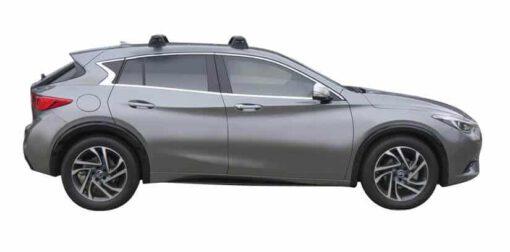 Whispbar Dakdragers (Black) Infiniti Q30 5dr Hatch met Vaste bevestigingspunten bouwjaar 2015 - e.v.|Complete set dakdragers