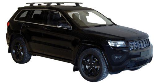 Whispbar Dakdragers (Black) Jeep Grand Cherokee WK2 SRT-8 / Blackhawk 5dr SUV met Vaste bevestigingspunten bouwjaar 2012 - e.v. Complete set dakdragers