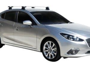 Whispbar Dakdragers (Black) Mazda 3 4dr Sedan met Vaste bevestigingspunten bouwjaar 2014 - 2016|Complete set dakdragers