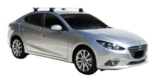Whispbar Dakdragers (Black) Mazda 3 4dr Sedan met Vaste bevestigingspunten bouwjaar 2016 - e.v. Complete set dakdragers