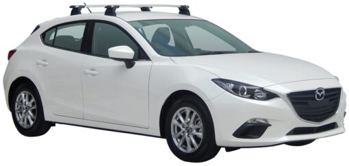 Whispbar Dakdragers (Black) Mazda 3 5dr Hatch met Vaste bevestigingspunten bouwjaar 2016 - e.v.|Complete set dakdragers