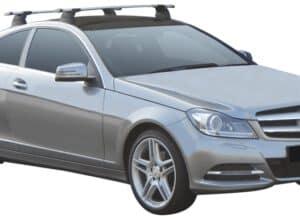 Whispbar Dakdragers (Black) Mercedes-Benz C-Class Glass Roof 2dr Coupe met Vaste bevestigingspunten bouwjaar 2012 - 2015|Complete set dakdragers