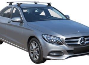 Whispbar Dakdragers (Black) Mercedes-Benz C-Class W205 4dr Sedan met Vaste bevestigingspunten bouwjaar 2014 - e.v.|Complete set dakdragers