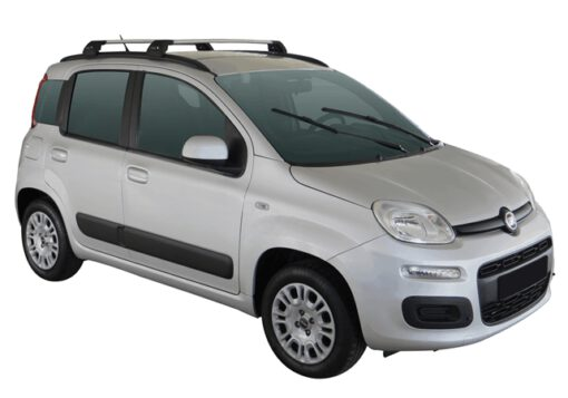 Whispbar Dakdragers (Black) Fiat Panda 5dr Hatch met Geintegreerde rails bouwjaar 2012 - e.v. Complete set dakdragers