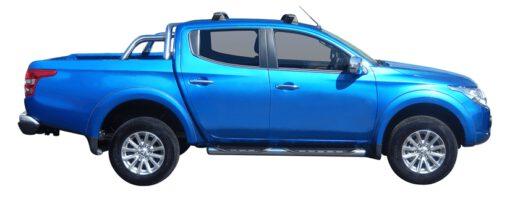 Whispbar Dakdragers (Black) Mitsubishi L200 Double Cab 4dr Ute met Vaste bevestigingspunten bouwjaar 2015 - e.v.|Complete set dakdragers