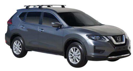 Whispbar Dakdragers (Black) Nissan X-Trail 5dr SUV met Vaste bevestigingspunten bouwjaar 2017 - e.v. Complete set dakdragers