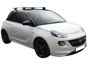 Whispbar Dakdragers (Black) Opel Adam 3dr Hatch met Vaste bevestigingspunten bouwjaar 2013 - e.v. Complete set dakdragers