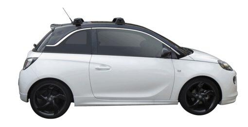 Whispbar Dakdragers (Black) Opel Adam 3dr Hatch met Vaste bevestigingspunten bouwjaar 2013 - e.v.|Complete set dakdragers