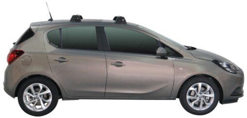 Whispbar Dakdragers (Black) Opel Corsa 5dr Hatch met Vaste bevestigingspunten bouwjaar 2015 - e.v.|Complete set dakdragers