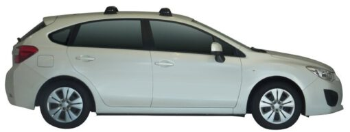 Whispbar Dakdragers (Black) Subaru Impreza 5dr Hatch met Vaste bevestigingspunten bouwjaar 2013 - 2014 Complete set dakdragers