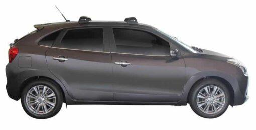Whispbar Dakdragers (Black) Suzuki Baleno 5dr Hatch met Vaste bevestigingspunten bouwjaar 2016 - e.v.|Complete set dakdragers