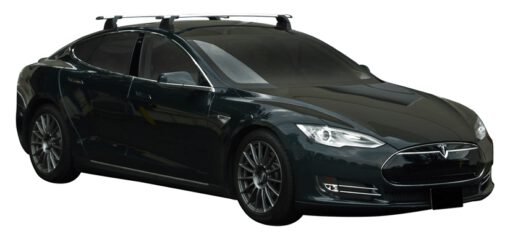 Whispbar Dakdragers (Black) Tesla Model S 5dr Hatch met Vaste bevestigingspunten bouwjaar 2012 - 2015|Complete set dakdragers