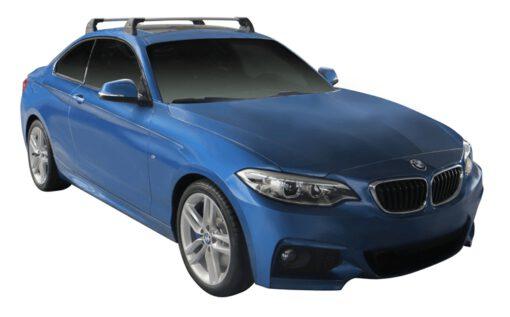 Whispbar Dakdragers (Black) BMW 2 Series F22 2dr Coupe met Vaste bevestigingspunten bouwjaar 2014 - e.v. Complete set dakdragers