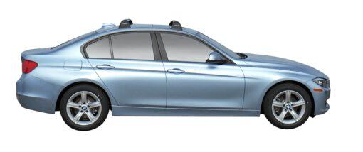 Whispbar Dakdragers (Black) BMW 3 Series 4dr Sedan met Vaste bevestigingspunten bouwjaar 2015 - e.v. Complete set dakdragers