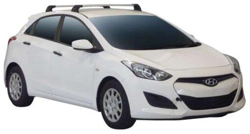 Whispbar Dakdragers (Black) Hyundai i30 5dr Hatch met Vaste bevestigingspunten bouwjaar 2012 - 2015 Complete set dakdragers