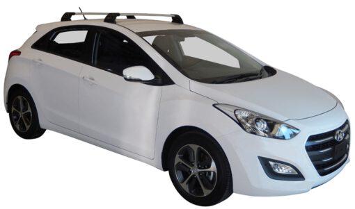 Whispbar Dakdragers (Black) Hyundai i30 5dr Hatch met Vaste bevestigingspunten bouwjaar 2015 - 2017|Complete set dakdragers