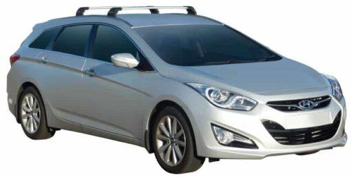Whispbar Dakdragers (Black) Hyundai i40 Tourer 5dr Estate met Vaste bevestigingspunten bouwjaar 2011 - e.v.|Complete set dakdragers