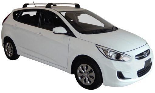 Whispbar Dakdragers (Black) Hyundai Solaris 5dr Hatch met Vaste bevestigingspunten bouwjaar 2015 - e.v. Complete set dakdragers
