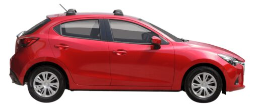 Whispbar Dakdragers (Black) Mazda 2 5dr Hatch met Vaste bevestigingspunten bouwjaar 2015 - 2017|Complete set dakdragers