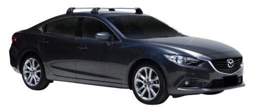 Whispbar Dakdragers (Black) Mazda 6 4dr Sedan met Vaste bevestigingspunten bouwjaar 2012 - e.v.|Complete set dakdragers