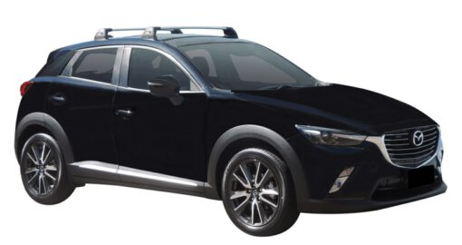 Whispbar Dakdragers (Black) Mazda CX-3 5dr SUV met Vaste bevestigingspunten bouwjaar 2015 - e.v.|Complete set dakdragers