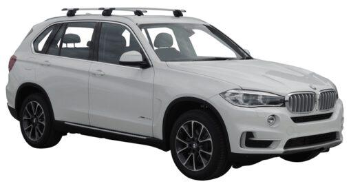 Whispbar Dakdragers (Zilver) BMW X5 F15 5dr SUV met Geintegreerde rails bouwjaar 2014 - e.v. Complete set dakdragers