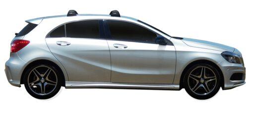 Whispbar Dakdragers (Black) Mercedes-Benz A-Class 5dr Hatch met Vaste bevestigingspunten bouwjaar 2013 - 2015 Complete set dakdragers