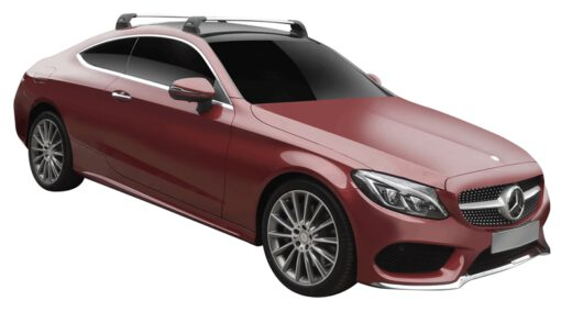 Whispbar Dakdragers (Black) Mercedes-Benz C-Class W205 Glass Roof 2dr Coupe met Vaste bevestigingspunten bouwjaar 2015 - e.v. Complete set dakdragers