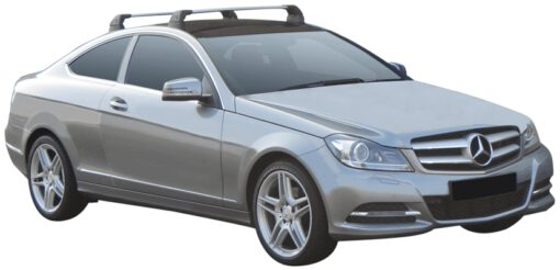 Whispbar Dakdragers (Black) Mercedes-Benz C-Class 2dr Coupe met Vaste bevestigingspunten bouwjaar 2012 - 2014 Complete set dakdragers