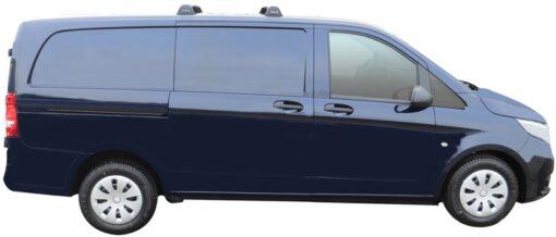 Whispbar Dakdragers (Black) Mercedes-Benz Vito (2 Bar) 4dr Van met Vaste bevestigingspunten bouwjaar 2014 - e.v.|Complete set dakdragers