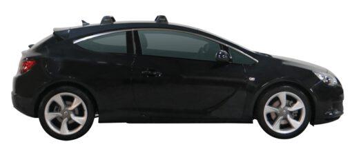 Whispbar Dakdragers (Black) Opel Astra GTC 3dr Hatch met Vaste bevestigingspunten bouwjaar 2011 - e.v.|Complete set dakdragers