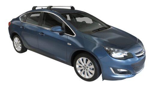 Whispbar Dakdragers (Black) Opel Astra 4dr Sedan met Vaste bevestigingspunten bouwjaar 2013 - e.v.|Complete set dakdragers