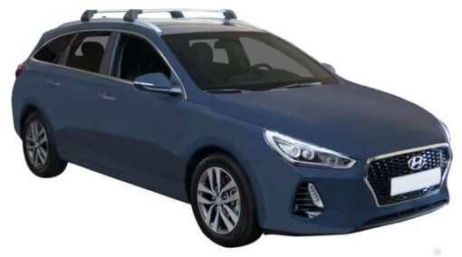 Whispbar Dakdragers (Zilver) Hyundai i30 5dr Estate met Geintegreerde rails bouwjaar 2017 - e.v. Complete set dakdragers