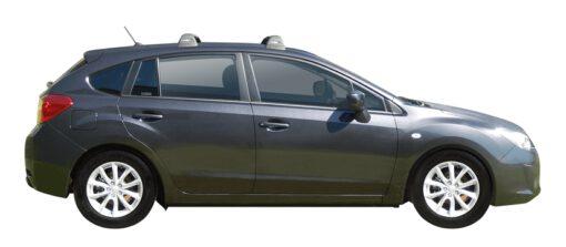 Whispbar Dakdragers (Black) Subaru Impreza 5dr Hatch met Vaste bevestigingspunten bouwjaar 2014 - 2017 Complete set dakdragers