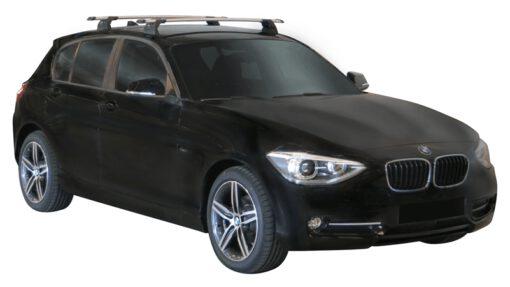 Whispbar Dakdragers (Silver) BMW 1 Series F20 5dr Hatch met Vaste bevestigingspunten bouwjaar 2012 - e.v.|Complete set dakdragers