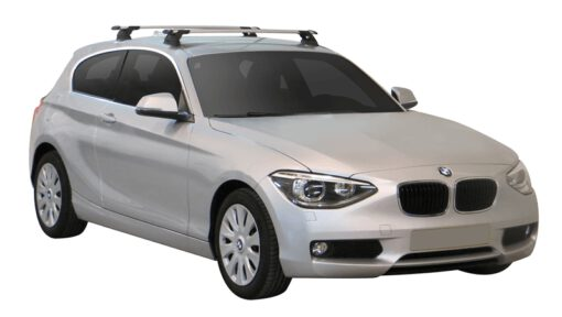 Whispbar Dakdragers (Silver) BMW 1 Series F21 3dr Hatch met Vaste bevestigingspunten bouwjaar 2012 - e.v.|Complete set dakdragers