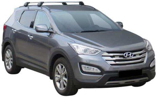 Whispbar Dakdragers (Black) Hyundai Santa Fe 5dr SUV met Geintegreerde rails bouwjaar 2012 - e.v. Complete set dakdragers