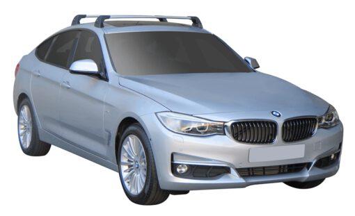 Whispbar Dakdragers (Silver) BMW 3 Series GT 5dr Hatch met Vaste bevestigingspunten bouwjaar 2013 - e.v.|Complete set dakdragers