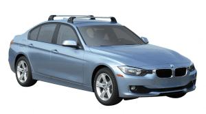 Whispbar Dakdragers (Silver) BMW 3 Series 4dr Sedan met Vaste bevestigingspunten bouwjaar 2015 - e.v.|Complete set dakdragers