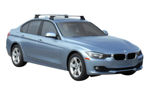 Whispbar Dakdragers (Silver) BMW 3 Series 4dr Sedan met Vaste bevestigingspunten bouwjaar 2015 - e.v. Complete set dakdragers