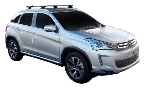Whispbar Dakdragers (Zilver) Citroen C4 Aircross 5dr SUV met Geintegreerde rails bouwjaar 2012 - 2015|Complete set dakdragers