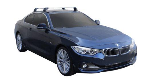 Whispbar Dakdragers (Silver) BMW 4 Series 2dr Coupe met Vaste bevestigingspunten bouwjaar 2014 - 2017|Complete set dakdragers
