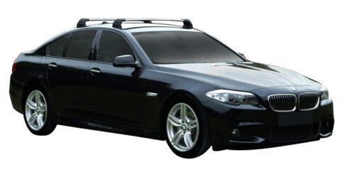 Whispbar Dakdragers (Silver) BMW 5 Series F10 4dr Sedan met Vaste bevestigingspunten bouwjaar 2013 - 2017 Complete set dakdragers